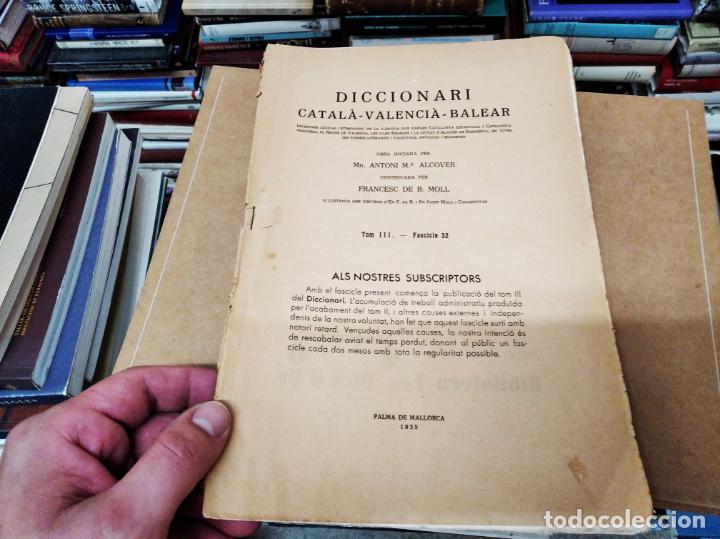 Diccionarios antiguos: IMPRESSIONANT LOT DE 7 FASCICLES DEL DICCIONARI CATALÀ - VALENCIÀ - BALEAR . 1935 - 1937 . MALLORCA - Foto 2 - 207038451
