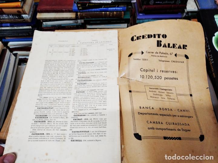 Diccionarios antiguos: IMPRESSIONANT LOT DE 7 FASCICLES DEL DICCIONARI CATALÀ - VALENCIÀ - BALEAR . 1935 - 1937 . MALLORCA - Foto 7 - 207038451