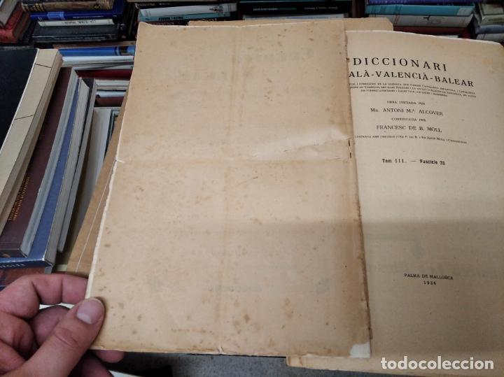 Diccionarios antiguos: IMPRESSIONANT LOT DE 7 FASCICLES DEL DICCIONARI CATALÀ - VALENCIÀ - BALEAR . 1935 - 1937 . MALLORCA - Foto 8 - 207038451