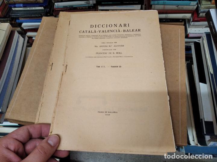 Diccionarios antiguos: IMPRESSIONANT LOT DE 7 FASCICLES DEL DICCIONARI CATALÀ - VALENCIÀ - BALEAR . 1935 - 1937 . MALLORCA - Foto 9 - 207038451