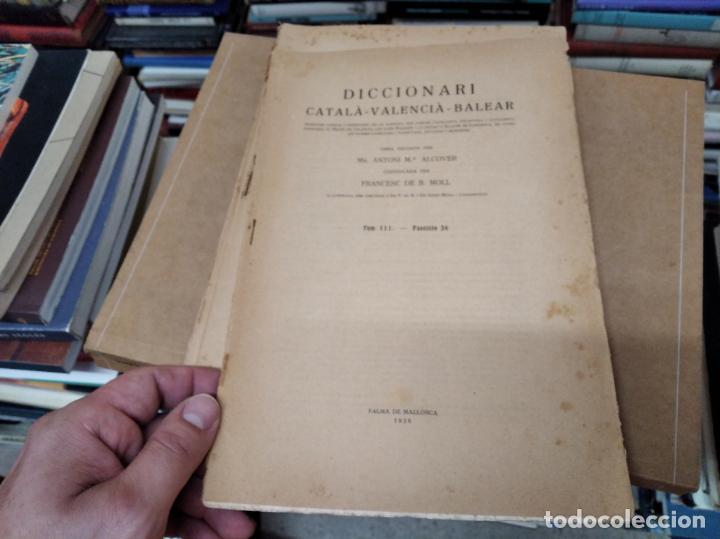 Diccionarios antiguos: IMPRESSIONANT LOT DE 7 FASCICLES DEL DICCIONARI CATALÀ - VALENCIÀ - BALEAR . 1935 - 1937 . MALLORCA - Foto 15 - 207038451