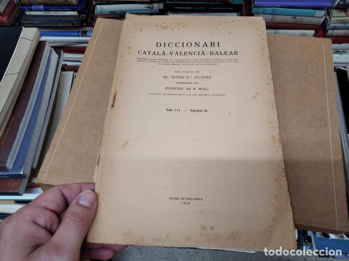 Diccionarios antiguos: IMPRESSIONANT LOT DE 7 FASCICLES DEL DICCIONARI CATALÀ - VALENCIÀ - BALEAR . 1935 - 1937 . MALLORCA - Foto 21 - 207038451