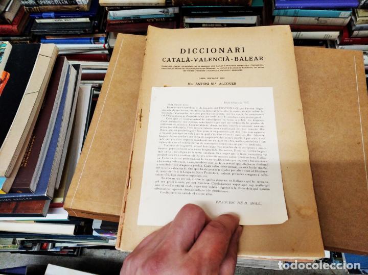 Diccionarios antiguos: IMPRESSIONANT LOT DE 7 FASCICLES DEL DICCIONARI CATALÀ - VALENCIÀ - BALEAR . 1935 - 1937 . MALLORCA - Foto 28 - 207038451