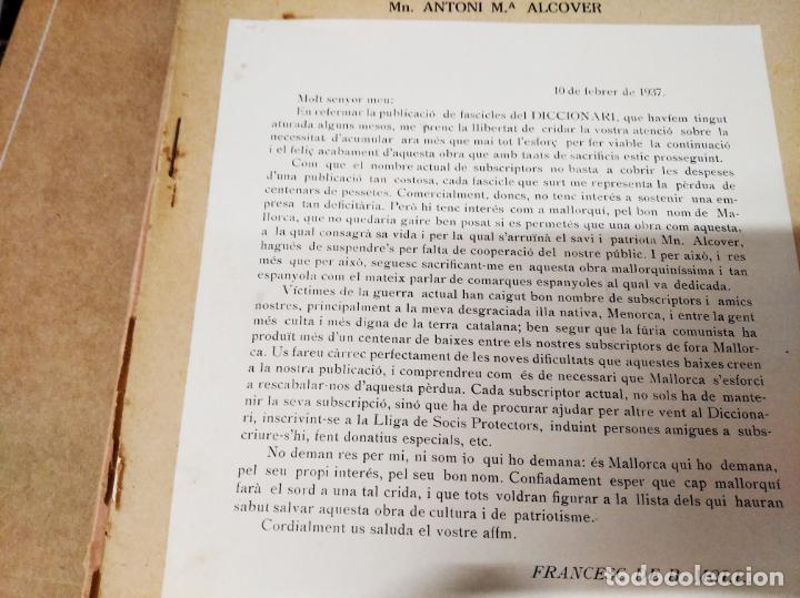 Diccionarios antiguos: IMPRESSIONANT LOT DE 7 FASCICLES DEL DICCIONARI CATALÀ - VALENCIÀ - BALEAR . 1935 - 1937 . MALLORCA - Foto 29 - 207038451