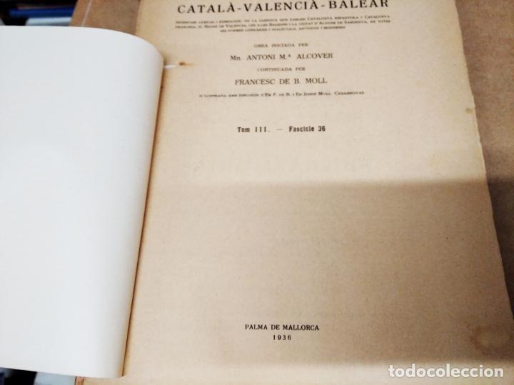 Diccionarios antiguos: IMPRESSIONANT LOT DE 7 FASCICLES DEL DICCIONARI CATALÀ - VALENCIÀ - BALEAR . 1935 - 1937 . MALLORCA - Foto 30 - 207038451