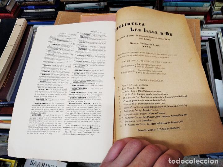 Diccionarios antiguos: IMPRESSIONANT LOT DE 7 FASCICLES DEL DICCIONARI CATALÀ - VALENCIÀ - BALEAR . 1935 - 1937 . MALLORCA - Foto 34 - 207038451