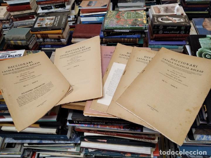 IMPRESSIONANT LOT DE 7 FASCICLES DEL DICCIONARI CATALÀ - VALENCIÀ - BALEAR . 1935 - 1937 . MALLORCA (Libros Antiguos, Raros y Curiosos - Diccionarios)