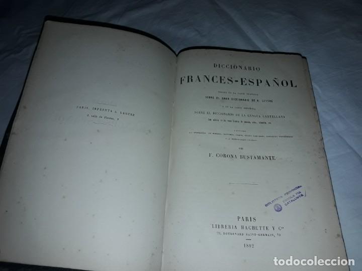 F. CORONA BUSTAMANTE - ANTIGUO DICCIONARIO FRANCÉS-ESPAÑOL AÑO 1882 (Libros Antiguos, Raros y Curiosos - Diccionarios)