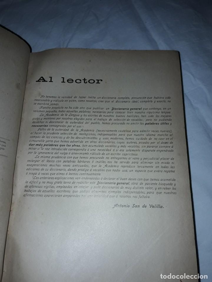 Diccionarios antiguos: Antiguo Diccionario General Lengua Castellana Antonio San de Velilla año 1906 - Foto 7 - 207729357