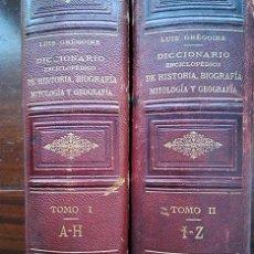 Diccionarios antiguos: DICCIONARIO ENCICLOPÉDICO DE HISTORIA, BIOGRAFÍA, MITOLOGÍA Y GEOGRAFÍA – LUIS GRÉGOIRE. 1879. Lote 208148313