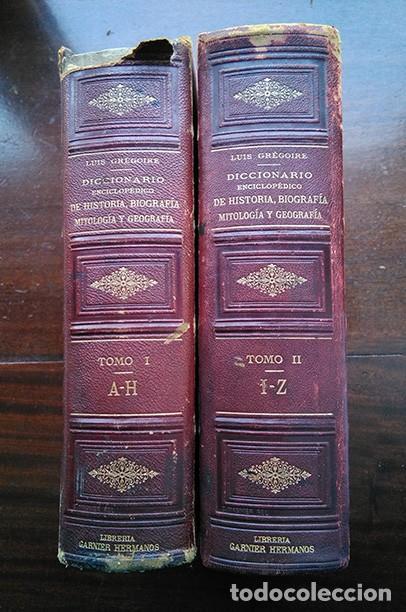 Diccionarios antiguos: Diccionario enciclopédico de historia, biografía, mitología y geografía – Luis Grégoire. 1879 - Foto 9 - 208148313