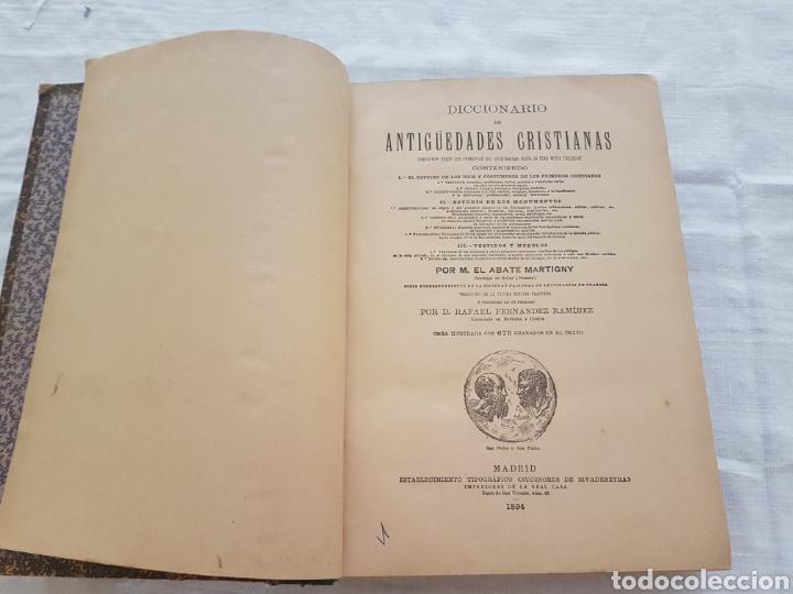 DICCIONARIO DE ANTIGÜEDADES CRISTIANAS. M. EL ABATE MARTIGNY. 1894. 675 GRABADOS EN EL TEXTO (Libros Antiguos, Raros y Curiosos - Diccionarios)