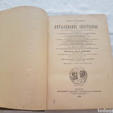Diccionarios antiguos: DICCIONARIO DE ANTIGÜEDADES CRISTIANAS. M. EL ABATE MARTIGNY. 1894. 675 GRABADOS EN EL TEXTO. Lote 208672956