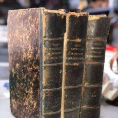 Livros antigos: LOTE 3 DICCIONARIOS DE LEGISLACIÓN Y JURISPRUDENCIA [[1874]]. ESCRICHE.. Lote 208836940