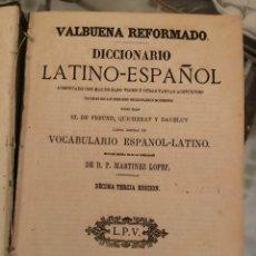 Diccionarios antiguos: VALBUENA REFORMADO. DICCIONARIO LATINO-ESPAÑOL. EDICIÓN DE 1872. Lote 208971071