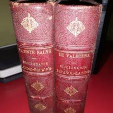 Diccionarios antiguos: DICCIONARIO ESPAÑOL-LATINO Y DICCIONARIO LATINO ESPAÑOL DE VICENTE SALVA DE VALBUENA 1889 Y 1893. Lote 210689641