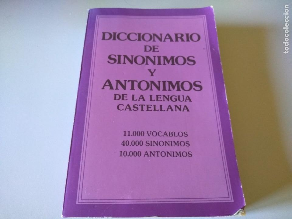 DICCIONARIO DE SINONIMOS Y ANTONIMOS DE LE LENGUA CASTELLANA MARIA LLORENS CAMPS C1 (Libros Antiguos, Raros y Curiosos - Diccionarios)
