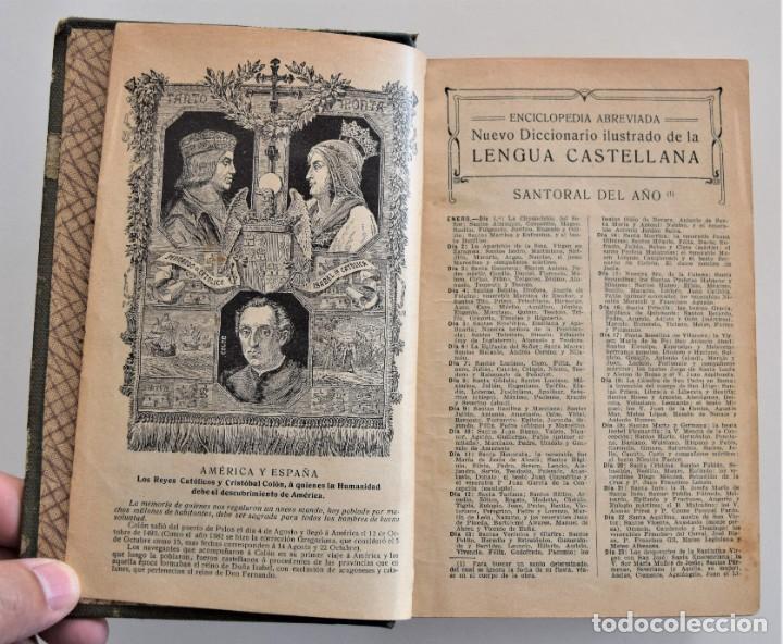 Diccionarios antiguos: NUEVO DICCIONARIO MANUAL, ILUSTRADO, DE LA LENGUA CASTELLANA - SATURNINO CALLEJA 1914 - Foto 5 - 212382680