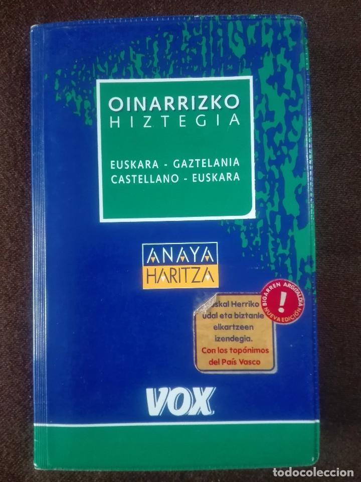DICCIONARIO OINARRIZKO HIZTEGIA VASCO CASTELLANO EUSKERA GAZTELANIA EUZKARA - VOX ANAYA - 450G (Libros Antiguos, Raros y Curiosos - Diccionarios)