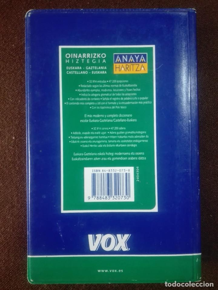 Diccionarios antiguos: DICCIONARIO OINARRIZKO HIZTEGIA VASCO CASTELLANO EUSKERA GAZTELANIA EUZKARA - VOX ANAYA - 450g - Foto 4 - 213316712