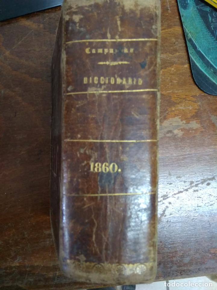 DICCIONARIO MANUAL DE LA LENGUA CASTELLANA, D. RAMÓN CAMPUZANO. 1860. L.14508-920 (Libros Antiguos, Raros y Curiosos - Diccionarios)