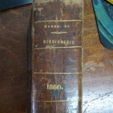 Diccionarios antiguos: DICCIONARIO MANUAL DE LA LENGUA CASTELLANA, D. RAMÓN CAMPUZANO. 1860. L.14508-920. Lote 214647206
