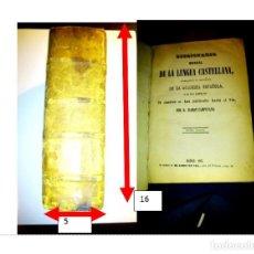 Diccionarios antiguos: DICCIONARIO MANUAL DE LA LENGUA CASTELLANA . AÑO 1863. RAMÓN CAMPUZANO. Lote 215139527