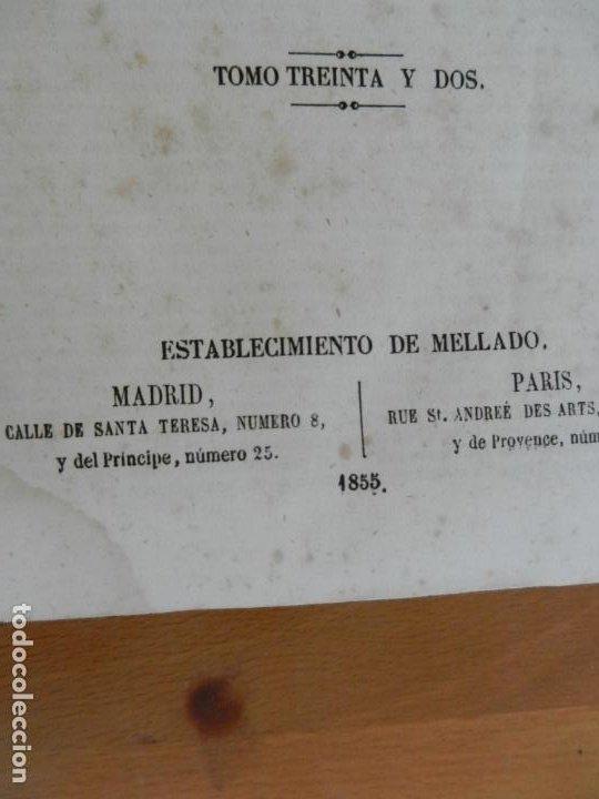 Diccionarios antiguos: ENCICLOPEDIA MODERNA DE LITERATURA , CIENCIAS ARTES - TOMO 32- 1855 FRANCISCO DE P. MELLADO - Foto 2 - 217022788