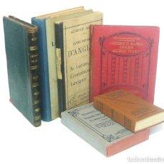 Diccionarios antiguos: 1890 - LOTE DE 6 LIBROS ANTIGUOS - DICCIONARIOS Y GRAMÁTICAS - INGLÉS, ALEMÁN - FILOLOGÍA. Lote 218324381