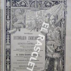 Diccionarios antiguos: ANTIGUO CUADERNO Nº 42 DICCIONARIO ENCICLOPEDICO DE LA LENGUA CASTELLANA D. DELFIN DONADIU Y PUIGNAU. Lote 219612922