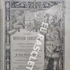 Diccionarios antiguos: ANTIGUO CUADERNO Nº 44 DICCIONARIO ENCICLOPEDICO DE LA LENGUA CASTELLANA D. DELFIN DONADIU Y PUIGNAU. Lote 219613032