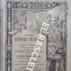 Diccionarios antiguos: ANTIGUO CUADERNO Nº 45 DICCIONARIO ENCICLOPEDICO DE LA LENGUA CASTELLANA D. DELFIN DONADIU Y PUIGNAU. Lote 219613105