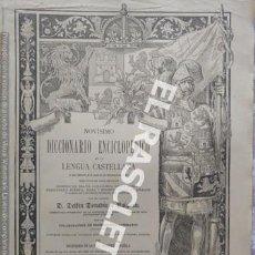 Diccionarios antiguos: ANTIGUO CUADERNO Nº 49 DICCIONARIO ENCICLOPEDICO DE LA LENGUA CASTELLANA D. DELFIN DONADIU Y PUIGNAU. Lote 219613360