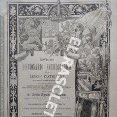 Diccionarios antiguos: ANTIGUO CUADERNO Nº 53 DICCIONARIO ENCICLOPEDICO DE LA LENGUA CASTELLANA D. DELFIN DONADIU Y PUIGNAU. Lote 219613666