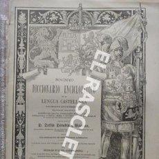 Diccionarios antiguos: ANTIGUO CUADERNO Nº 55 DICCIONARIO ENCICLOPEDICO DE LA LENGUA CASTELLANA D. DELFIN DONADIU Y PUIGNAU. Lote 219613772