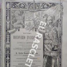 Diccionarios antiguos: ANTIGUO CUADERNO Nº 56 DICCIONARIO ENCICLOPEDICO DE LA LENGUA CASTELLANA D. DELFIN DONADIU Y PUIGNAU. Lote 219613810