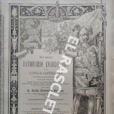 Diccionarios antiguos: ANTIGUO CUADERNO Nº 57 DICCIONARIO ENCICLOPEDICO DE LA LENGUA CASTELLANA D. DELFIN DONADIU Y PUIGNAU. Lote 219613913