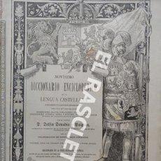 Diccionarios antiguos: ANTIGUO CUADERNO Nº 58 DICCIONARIO ENCICLOPEDICO DE LA LENGUA CASTELLANA D. DELFIN DONADIU Y PUIGNAU. Lote 219613997