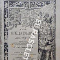 Diccionarios antiguos: ANTIGUO CUADERNO Nº 59 DICCIONARIO ENCICLOPEDICO DE LA LENGUA CASTELLANA D. DELFIN DONADIU Y PUIGNAU. Lote 219614068