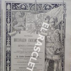 Diccionarios antiguos: ANTIGUO CUADERNO Nº 60 DICCIONARIO ENCICLOPEDICO DE LA LENGUA CASTELLANA D. DELFIN DONADIU Y PUIGNAU. Lote 219614218