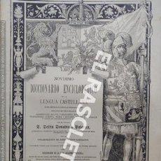 Diccionarios antiguos: ANTIGUO CUADERNO Nº 61 DICCIONARIO ENCICLOPEDICO DE LA LENGUA CASTELLANA D. DELFIN DONADIU Y PUIGNAU. Lote 219614288