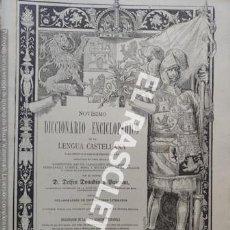 Diccionarios antiguos: ANTIGUO CUADERNO Nº 63 DICCIONARIO ENCICLOPEDICO DE LA LENGUA CASTELLANA D. DELFIN DONADIU Y PUIGNAU. Lote 219614422