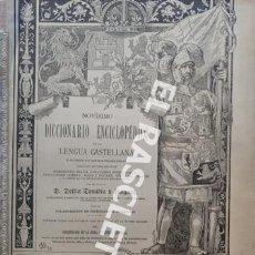 Diccionarios antiguos: ANTIGUO CUADERNO Nº 68 DICCIONARIO ENCICLOPEDICO DE LA LENGUA CASTELLANA D. DELFIN DONADIU Y PUIGNAU. Lote 219614496