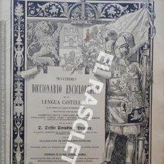 Diccionarios antiguos: ANTIGUO CUADERNO Nº 69 DICCIONARIO ENCICLOPEDICO DE LA LENGUA CASTELLANA D. DELFIN DONADIU Y PUIGNAU. Lote 219614567