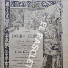 Diccionarios antiguos: ANTIGUO CUADERNO Nº 72 DICCIONARIO ENCICLOPEDICO DE LA LENGUA CASTELLANA D. DELFIN DONADIU Y PUIGNAU. Lote 219614942