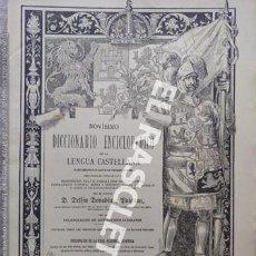 Diccionarios antiguos: ANTIGUO CUADERNO Nº 74 DICCIONARIO ENCICLOPEDICO DE LA LENGUA CASTELLANA D. DELFIN DONADIU Y PUIGNAU. Lote 219615082