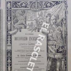 Diccionarios antiguos: ANTIGUO CUADERNO Nº 75 DICCIONARIO ENCICLOPEDICO DE LA LENGUA CASTELLANA D. DELFIN DONADIU Y PUIGNAU. Lote 219615137