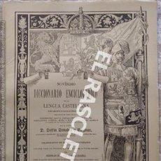 Diccionarios antiguos: ANTIGUO CUADERNO Nº 76 DICCIONARIO ENCICLOPEDICO DE LA LENGUA CASTELLANA D. DELFIN DONADIU Y PUIGNAU. Lote 219615211