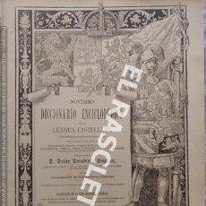 Diccionarios antiguos: ANTIGUO CUADERNO Nº 79 DICCIONARIO ENCICLOPEDICO DE LA LENGUA CASTELLANA D. DELFIN DONADIU Y PUIGNAU. Lote 219615477