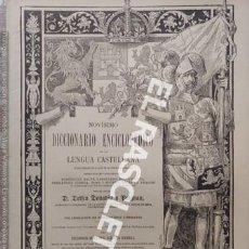 Diccionarios antiguos: ANTIGUO CUADERNO Nº 82 DICCIONARIO ENCICLOPEDICO DE LA LENGUA CASTELLANA D. DELFIN DONADIU Y PUIGNAU. Lote 219615790